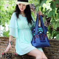 New Design Tassel Embroidery Shoulder Bag Fashion Ethnic PU Bag Handbag
