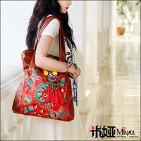 Autumn 2013 New Arrival Designer Handbag Ethnic Embroidery One Shoulder Bag PU travel bag