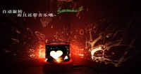 Amazing Flashing Star rotating and music Lighten LED Projector Night Light Lamp i love you sky lover
