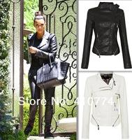 fashion new  kim kardashian Celebrity Women Punk Motorcycle Motorcycle  Spike Studded Rivet  Jacket Coat Leather Zip Blazer