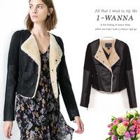 Free shipping New arrival Fashion women leather coat, Slim single breasted autumn fur jacket clothing KE030