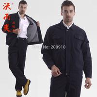 Work wear  men Spring Winter thickening work wear set cold-proof thermal work wear 100% cotton work wear set Overoat