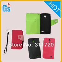 Flip Leather  Wallet Case  For Alcatel One Touch Idol OT 6030D /OT-6030D /OT 6030  For TCL S820