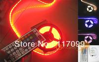RGB 5050 SMD LED Light Strip, 5m/roll 60 led/m WATERPROOF +44 Key IR remote Controller led light,free shipping