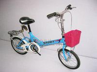Plastic child car basket bicycle folding bike general basket chromophous student car hanging basket