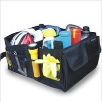 Free Shipping Black Car Boot Organiser storage Bag Auto Storage Box Multi-use Tools organizer