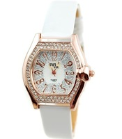 Golden crystal frosted wrist skin fashion watches the clock - 64506