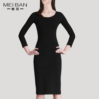 Fashion long-sleeve 2013 spring and summer autumn formal ol one-piece dress elegant basic