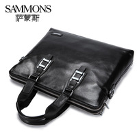 New style men's bag High quality genuine leather Briefcases handbag shoulder bags Blue Black Coffee