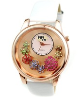 Brand with color crystal ball wrist skin with the stylish watches the clock - 64491
