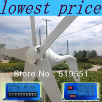wind generator 600W max,3blade,12V/24V,wind power turbine+1000W 000w max Wind solar hybrid Controller with RoHS CE Certification