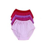 Quinquagenarian women's 100% cotton high waist panties trigonometric plus file