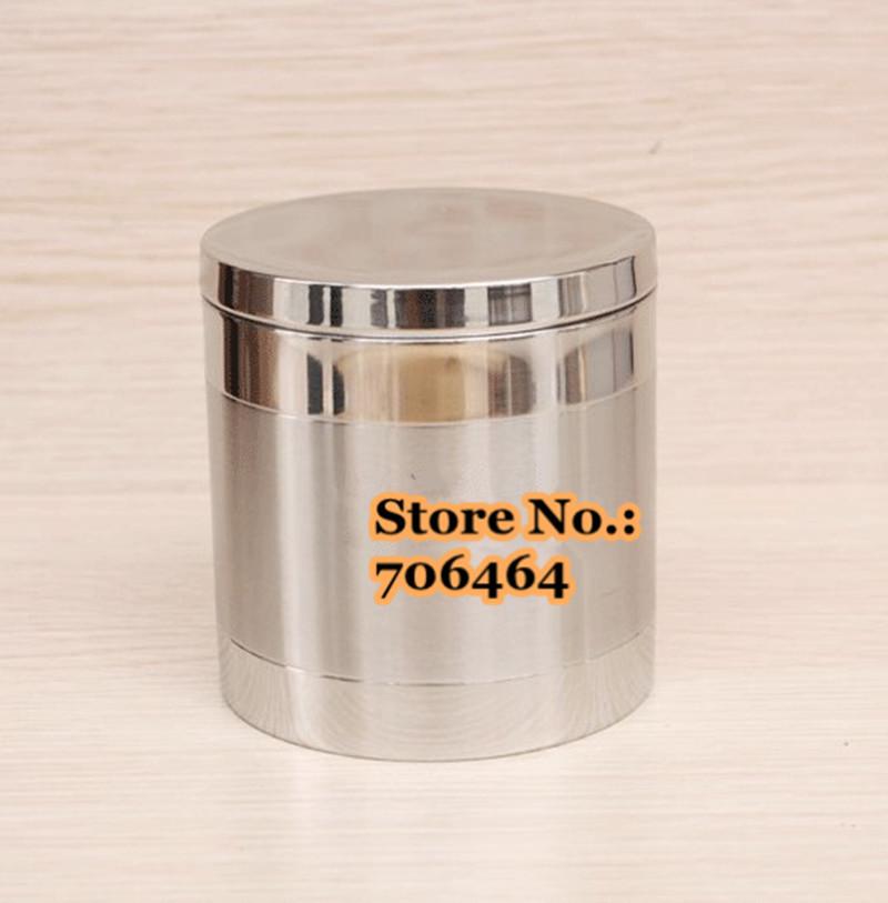 Alta qualidade de transporte gratuito 18-8 aço inoxidável ferramentas de grão de café 130g / pote selo de chá / café da vasilha / tanque(China (Mainland))