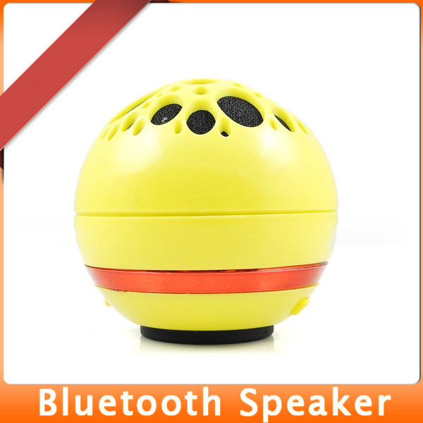 MENGS Portable Wireless Bluetooth Speaker for iPhone Blackberry Samsung HTC Sony Huawei Mobile SmartPhone PC Laptop - Yellow(China (Mainland))