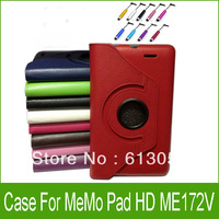 Free shipping 1PC 360 Rotating Leather Case Cover  For Asus MeMO Pad ME172V ME172 7""