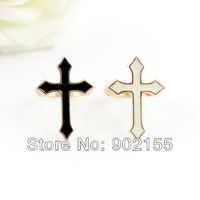 New 2013 Fashion Jewelry Punk Style Enamel Cross Gold Color Alloy Finger Rings For Women