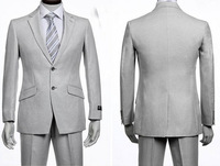 Free Shipping Hot Selling Italian Men Light Gray Fahion Slim Fit Blazers Cheap Clothes Luxury Buiness Dress Suits For Men 2013