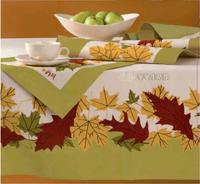 Free shipping Vera chestnut ridge rectangle 100% cotton big table cloth 152*300cm