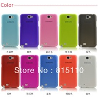 Free Shipping 0.3mm Ultra Thin Plastic Protection Shell Case For Samsung Galaxy Note 2 Note II N7100 , 200pcs/lot by dhl