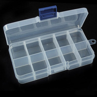 Diy eco-friendly plastic beads tool box transparent plastic box jewelry storage box 10 small
