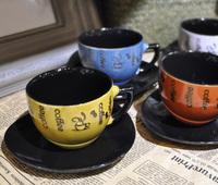 FashionHigh quality ceramic coffee cup and saucer European innovation beautiful cup mug FREEshipping