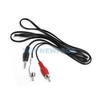 T2N2 Adapter Cable 3.5mm M/M to AV RCA Audio Y for ipod C