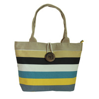 2013 women's handbag stripe fashion bags canvas bag shoulder bag women bag women's handbag