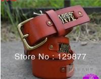 New 2013 2013 women belt Fashion brand belt Vintage all match belts Genuine Leather Straps belt Gift for women 6color WBT0009