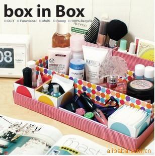 DIY Paper Board Desk Stationery Organizer Cosmetic Make-up Jewelry Storage Box Seven Standard info clerk box(China (Mainland))