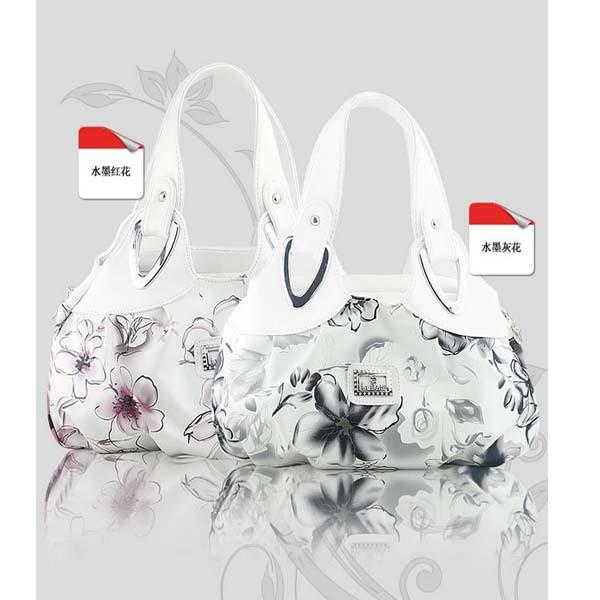 Fashion Korean handbag beautiful Women PU leather Bag Tote Bag Printing Handbags six style Satchel drop WHOLESALES SKY32(China (Mainland))