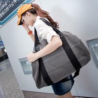 Wood pig large capacity hemp cotton bag casual travel gym bag female bag drum sports bag