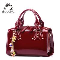 Bunny 2013 women's handbag fashion japanned leather shoulder bag women's handbag cross-body bag bridal bag large