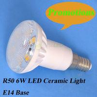Wholesale! 10pcs/lot free shipping high power 6w e14 light bulbs, AC220-240V/AC110-130V ceramic+glass 6w e14 led lamp CE&ROHS