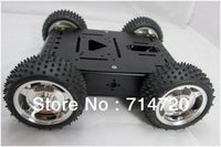 Free shipping Maximum Load 20KG Full aluminum alloy robot chassis 4wd robot smart car chassis