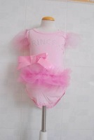 free shipping 100%new lovely baby girl's romper pink lace 6m-24m 109
