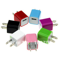 1000pcs USB Mini power travel mobile phone Charger Adapter for ipod touch iphone + Free shipping FEDEX  DHL