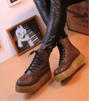 Women's punk-style rivet riding boots lady's fashion motorcycle cotton boots casual shoes for Autumn & Winter