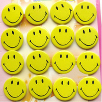 Free shipping 100 pcs fashion accessories child cartoon badge smiley embellishments tinplate badge Brooches in bulk wholesale