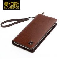 2013 wallet male long design cowhide male vertical day clutch commercial zipper wallet