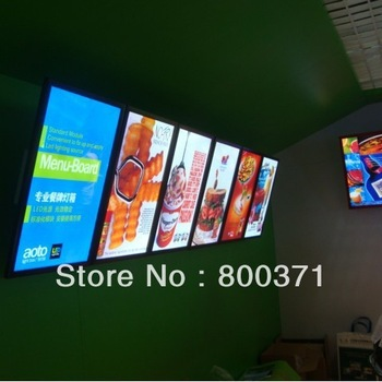 Slim &illuminated led menu light box sign display for restaurants