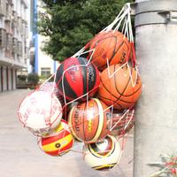Free shipping Basketball big net bag big bag basketball bag overstretches knitted rope 10 ball