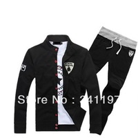 2013 autumn and winter fashion leisure suit collar sweater suits for men.