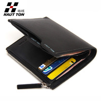 Hautton wallet male genuine leather multifunctional male wallet first layer of cowhide short wallet design