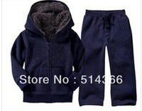 Retail-  baby winter clothes sets, infant suits, kids clothing, winter thick with hat + fur, coat hoodies+ pant, warm sales