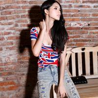2013 street sexy slim t-shirt fashion top tight elegant women's