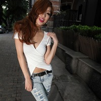 2013 fashion sexy v low-cut reversible women's top t-shirt short-sleeve