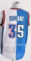 Free Shipping,#35 Kevin Durant Basketball Jersey,2013 men's split sports Jersey,Embroidery logo,Size 44-56