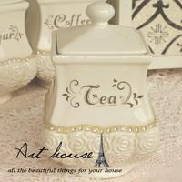 Free shipping! White embossed rhinestone series ceramic sugar bowl sauce pot candy jar kitchen supplies