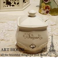 White embossed rhinestone series ceramic sugar bowl sauce pot sambonet kitchen supplies