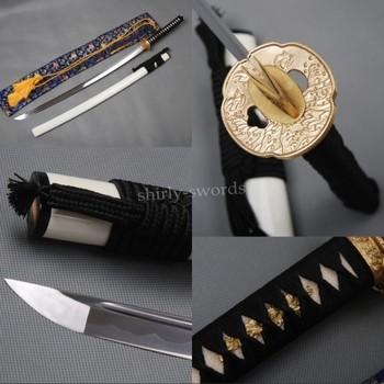Japanese Handmade Samurai Sword Practical Katana 1095 Carbon Steel Brass Fitting